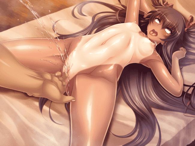 【2次】潮吹きするえっちな女の子のエロ画像